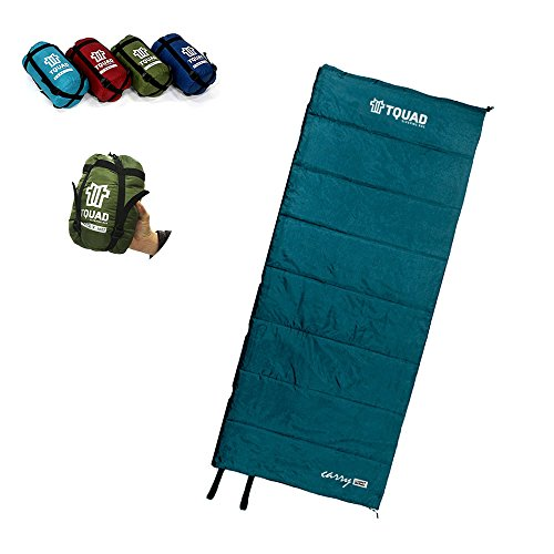 Lightweight Sleeping Bag For Backpacking, Camping, Hiking, Travel in Compact Compressable Sack For Kids Men Women (Mint) (Best Budget Backpacking Sleeping Bag)