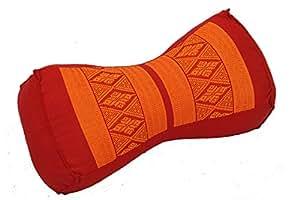 Cojín chino, diseño tradicional con relleno de kapok, rojo/naranja