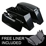 TCMT Unpainted Hard Saddlebags Saddle bags Fits For Harley...