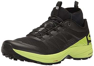 Salomon Men's XA Enduro Trail Runner, Black/Lime Green/Black, 7 M US