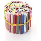 UniqStore 100 bâtons fimo de décorations fruits autocollantes relief pour ongles – manucure BS-09