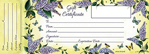 Blank Gift Certificates with Envelopes for Business - 18 Printable Paper Cards by Posies And Such