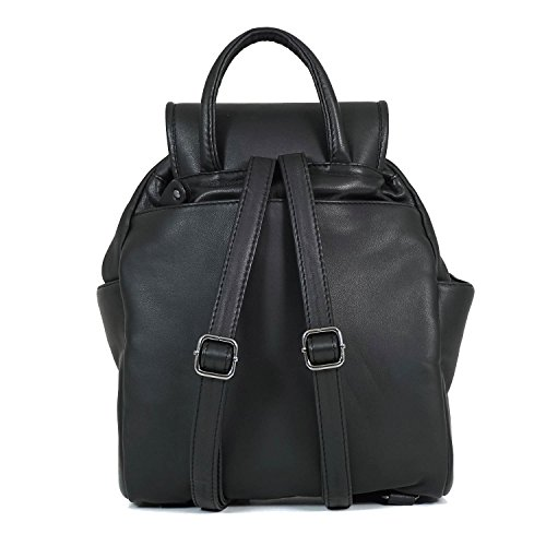 Taschenzauber® ALICE - Bolso mochila  para mujer negro negro