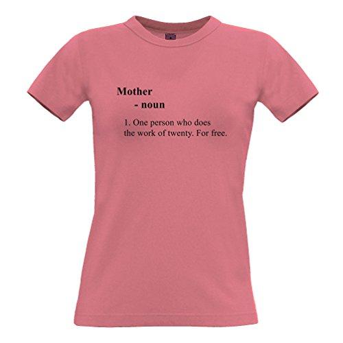 Tim and Ted Madre divertente Dizionario Definizione Slogan Joke mum mummy T-Shirt Da Donna