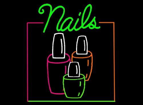 Porta-Trace Decorative LED Lit Sign with Nails Logo, (Nails Logo Led Sign)