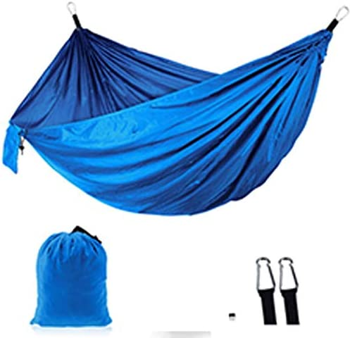 Tenniser Portable Outdoor Camping Double Hammock Swing Bed 210T Parachute Nylon Indoor Outdoor Casual Swing Hammocks, 106.3×55.1inch