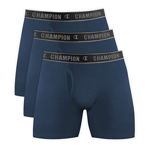Kit 3 cuecas Cotton, Champion, Masculino, Petróleo, G
