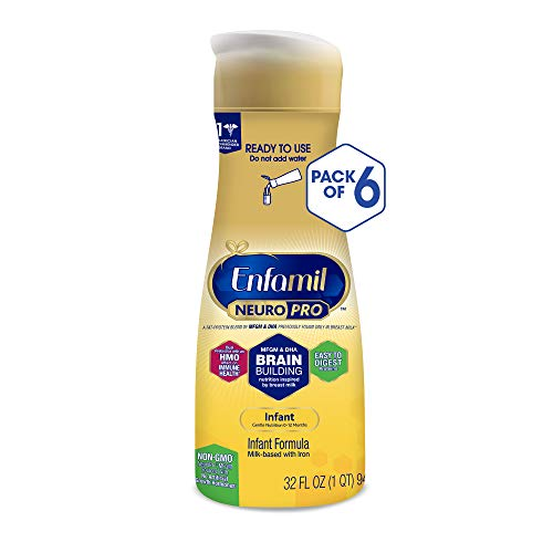 - Enfamil NeuroPro Ready to Feed Baby Formula Milk, 32 fluid ounce (6 count) - MFGM, Omega 3 DHA, Probiotics, Iron & Immune Support