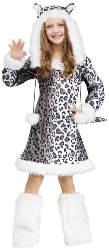 Big Girls' Snow Leopard Costume - M ()