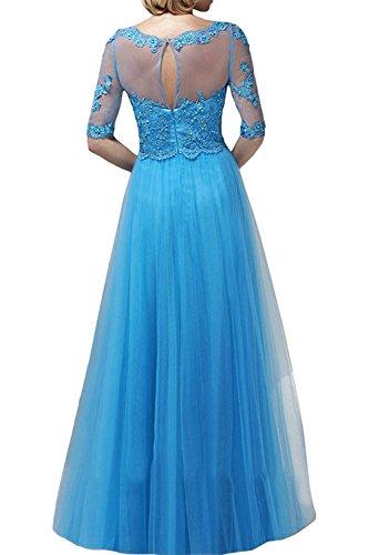 trapecio para mujer Vestido Azul Topkleider 4POxwXqn