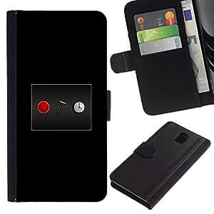 NEECELL GIFT forCITY // Billetera de cuero Caso Cubierta de protección Carcasa / Leather Wallet Case for Samsung Galaxy Note 3 III // Detener el reloj