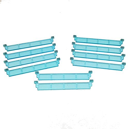 Lego-Parts-City-Garage-Roller-Door-Section-without-Handle-Service-Pack-of-10-Transparent-Light-Blue