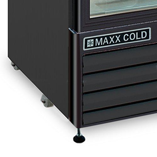 Maxx MXM1-12FB One 1 Upright NSF Merchandiser Frost in BLACK -