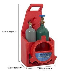 ARKSEN Portable Professional Torch Kit Oxygen & Acetylene Welding CGA200 / CGA540 Tote Storage w/ Handle, Red by ARKSEN