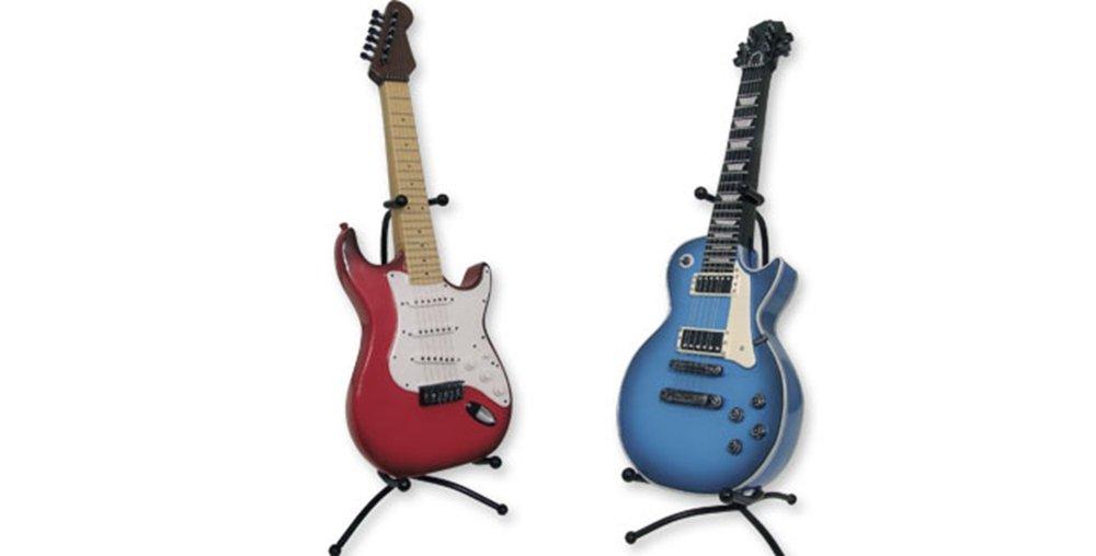 Dakota Hucha Resina Resistente Diseño Guitarra ELÉCTRICA. 36 cm. Roja o Azul 1unidad: Amazon.es: Hogar