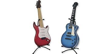 Dakota Hucha Resina Resistente Diseño Guitarra ELÉCTRICA. 36 cm. Roja o Azul 1unidad