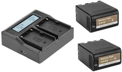 Green Extreme 2 Pack BPU-60 Battery and Dual Smart Charger Kit 14.4 6700mAh