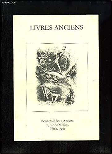 Amazon Fr Catalogue N 88 De Livres Anciens De La