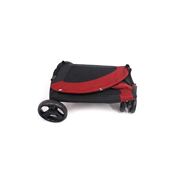 YD Pet Travel Carrier Pet Trolley Disabled Dog Assisted Vehicle Injured Dog Pet Scooter Outing Folding Cart Large And… Click on image for further info. 3