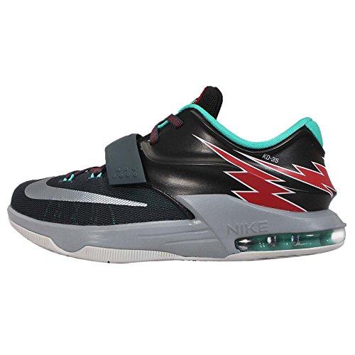 nike KD VII (GS) zapatillas de baloncesto hombre 669942 zapatillas kevin durant Carbón/Gris/Rojo