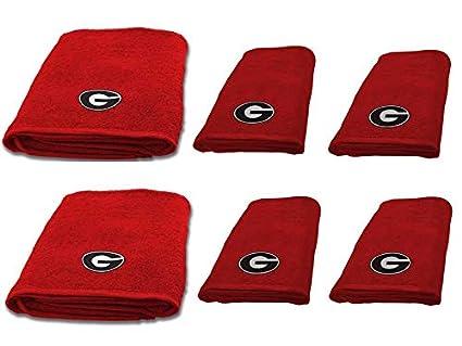 4896b64916d Amazon.com  NCAA University of Georgia 6 pc Decorative Towel Set ...