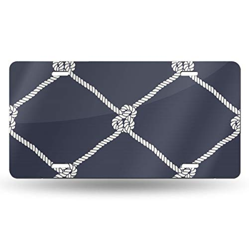 Sailors Knots Pattern License Plate Personalized EANAluminum Front Car License Plates Frames,12 Inch X 6 -