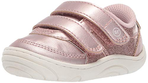 Stride Rite Kyle Baby/Toddler Girl's and Boy's Casual Double-Strap Sneaker First Walker Shoe, Blush, 3.5 M US Infant ()