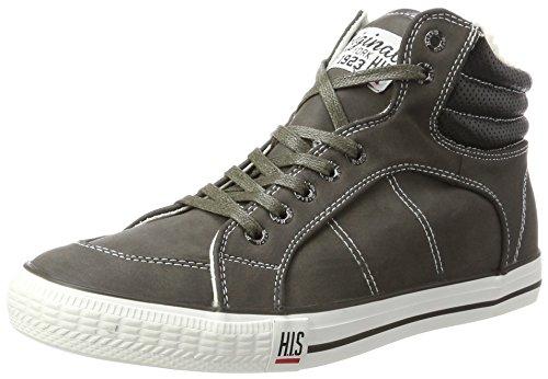 H.I.S Herren Ct18-031 High-Top Grau (Dk Grey)