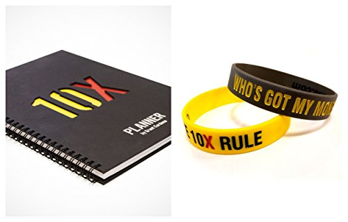 10X Planner By Grant Cardone Bundle with 2 Special Edition Grant Cardone 10X Wristband Bracelets