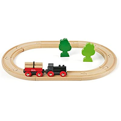 BRIO World - 33042 Little Forest Train Set | 18 Piece Train Toy with Accessories and Wooden Tracks for Kids Ages 3 and Up: Toys & Games