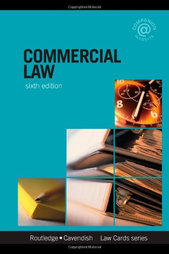 Commercial Lawcards 6/e: Seventh Edition