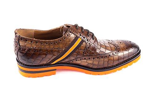 Melvin & Hamilton MH15-681, Chaussures de Ville à Lacets pour Homme Marron Marron 41 EU