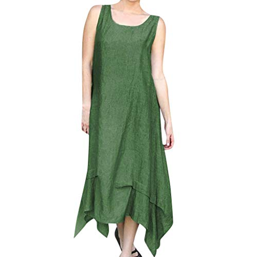 Bella Terry Robe - NEARTIME Casual Cotton Skirt for Women-Summer Fashion Pure Colour Long Dress Round Neck Simple Sleeveless Dresses
