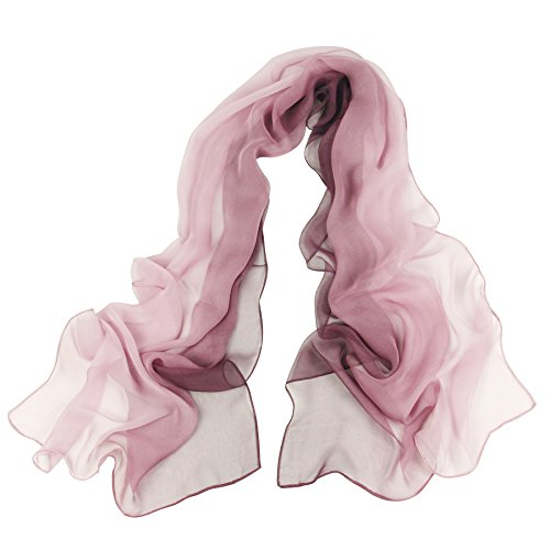 Long Chiffon Sheer Scarf Gradient - Pantonight Shaded Colors Lightweight Scarf For Womens (Color 085) ()
