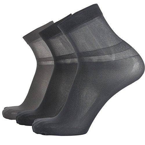 Nanxson(TM) Men's Silk Socks Ultrathin Crew Socks Packs of 10 WZMD0005 (Sheer Socks Men)