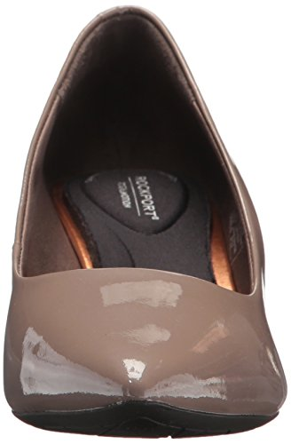 Kalila Total Motion Pearl Taupe Women's Grey Patent Pump Rockport Uqa4wP