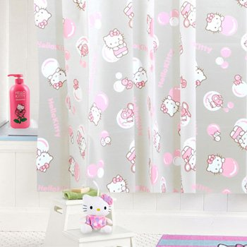 Image Unavailable Not Available For Color Hello Kitty Shower Curtain