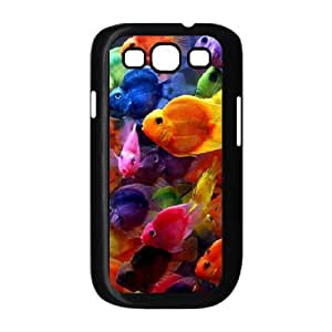 Samsung Galaxy S3 Case,Colorful Fish Hard Shell Back Case for Black Samsung Galaxy S3 Okaycosama438359