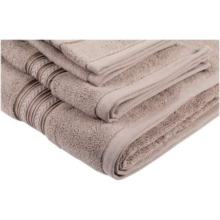 Better Homes and Gardens.. Thick and Plush 6-Piece Cotton Bath Towel Set (Taupe)