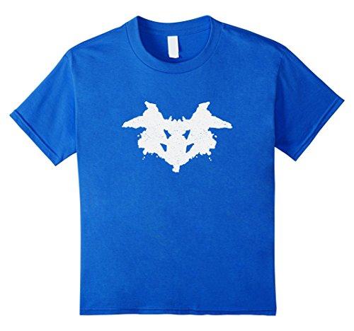 unisex-child Rorschach Inkblot Test Psychology T-Shirt Vintage Distressed 10 Royal Blue