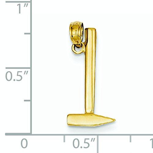 3-d 14 carats-Pendentif Marteau JewelryWeb