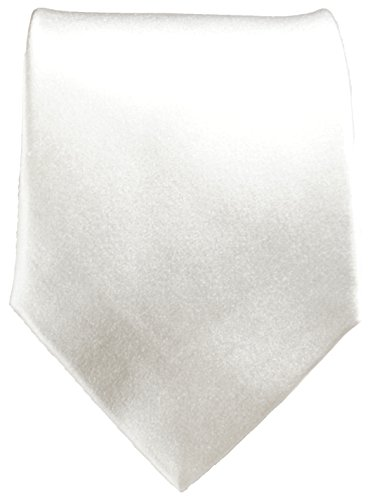 Cravate homme blanc uni 100% soie