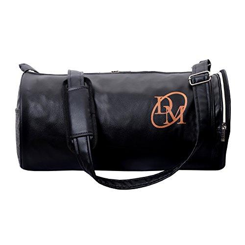 Dee Mannequin Galaxy Unisex Black Leatherite Gym Bag