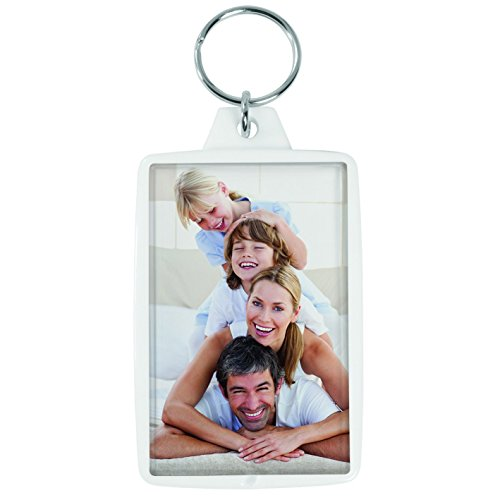 Snapins White 1.75'' x 2.75'' Photo Keychains - Case of 144 by Snapins