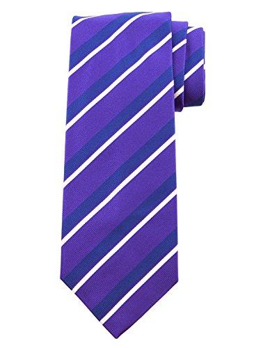 Robert Jensen Finest Silk Handmade Men's Neck Tie - Woven - (Purple with Navy Blue) by ROBERT JENSEN (Image #2)