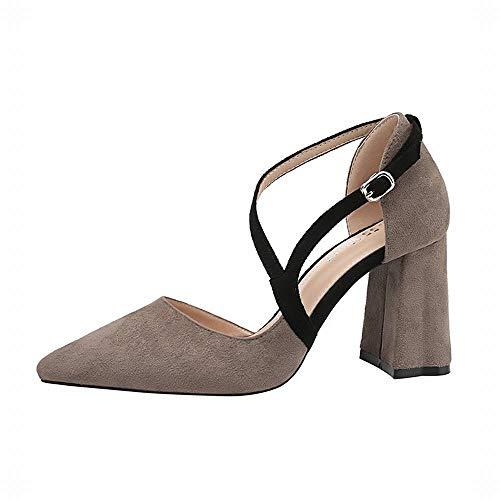 Pointus Yy4 Thin Talons Avec Sexy Fashion Gris Épaisse Wild Sandales Lady Chaussures Kervinfendriyun wZq6XX