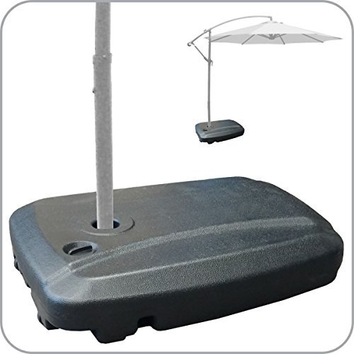 EasyGoProducts Universal Offset Umbrella Base Weight Capacity - Plastic Weighted