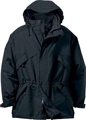 North End Men's 3-In-1 Techno Series Parka With Dobby Trim XL BLACK 703