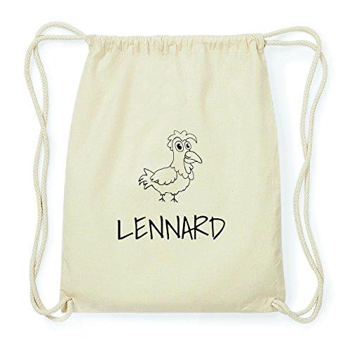JOllipets LENNARD Hipster Turnbeutel Tasche Rucksack aus Baumwolle Design: Hahn