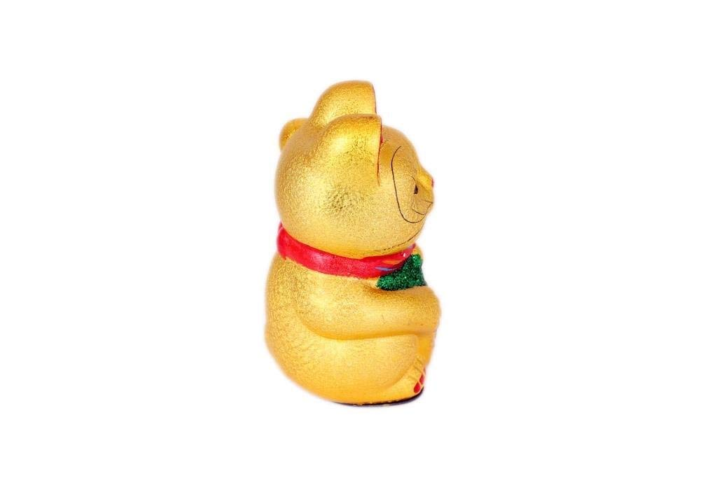 Hua Rong Sheng 21cm Saludando Cer/ámica Gato de la Suerte Maneki Neko.